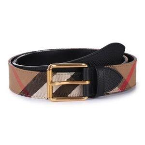 Burberry Men's Black Fabric Belt